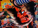 An float from Japan's Nebuta festival is displayed in 8K at an open house May 26, 2015, at the NHK Science & Technology Research Laboratories in Tokyo.