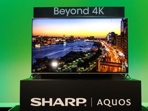 A 5K television unveiled by Sharp at CES 2015 in Las Vegas on January 5, 2015.