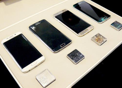 Galaxy S6 edge phones in an array of vivid colors. The Note5 is only available in two color options.