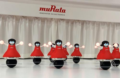 Murata Cheerleaders display their coordinated moves at Ceatec Japan in Chiba on October 6, 2014.