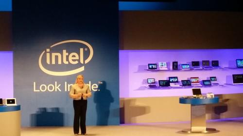 Intel President Renee James talks on stage at a Computex keynote