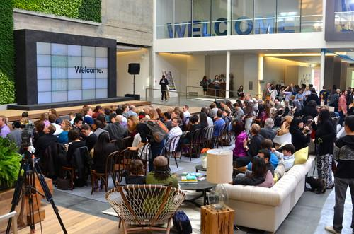 """More than 300 Airbnb hosts were invited to the company's """"Airbnb Open"""" event on Nov. 12, 2013."""