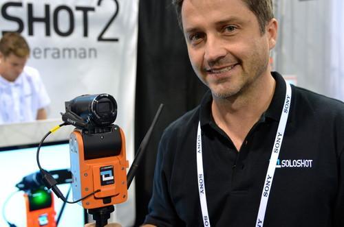 Chris Boyle with his Soloshot 2 robotic camera