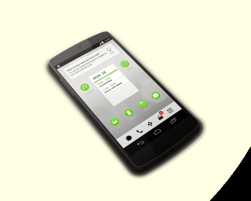 Divide's app on the LG Nexus smartphone.