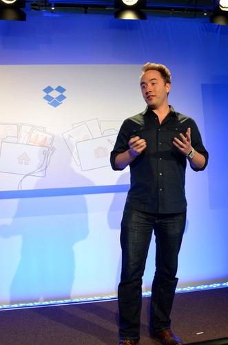 Dropbox CEO Drew Houston, announcing the company's new Dropbox for Business product.
