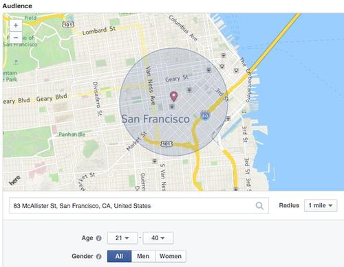 Facebook advertisers can now target users using tightly defined geographic areas.