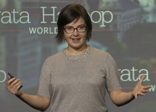 Miriah Meyer, University of Utah, at the O'Reilly Strata + Hadoop World conference