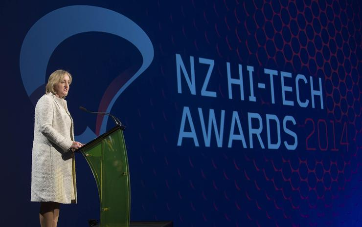 Amy Adams, minister for communications and information technology at the NZ Hi-Tech Awards 2014