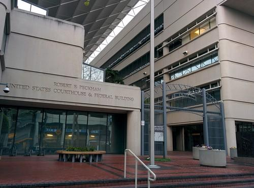 The U.S. District Court building in San Jose on April 4, 2014