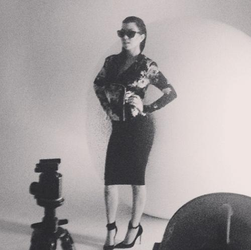 Kourtney Kardashian, in an Instagram photo posted for the Kardashian Kollection fashion line.
