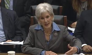 Kathleen Sebelius, secretary of the U.S. Department of Health and Human Services, testifies about the troubled rollout of HealthCare.gov Wednesday.