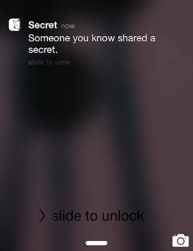 The Secret app lets users know when their friends have posted, but doesn't say who.