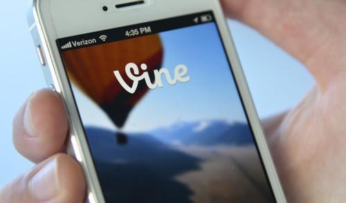 Vine's mobile app.