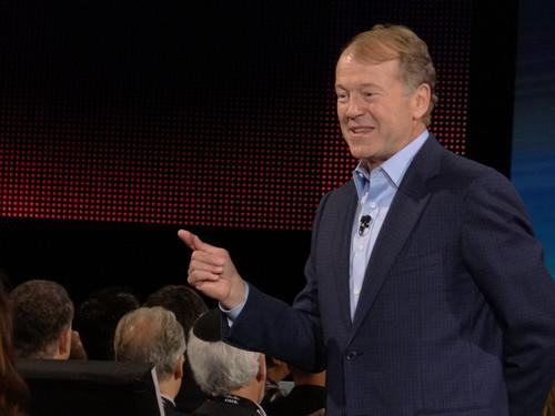 Cisco Systems Chairman and CEO John Chambers worked the crowd during his keynote address on Monday at Cisco Live in San Francisco.