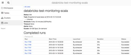 Databrick's now offers a way to schedule Spark jobs in the cloud