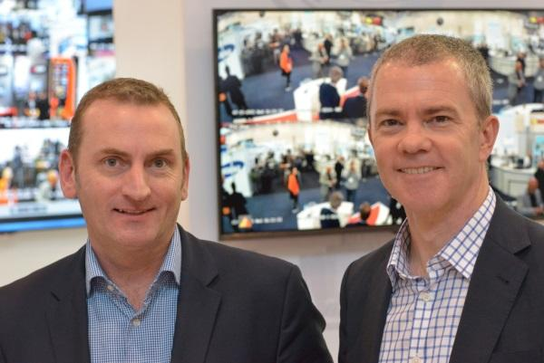 Ingram Micro's David Charlton (left) and Hikvision's Michael Bates