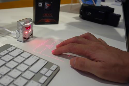 Serafim's laser projection mouse.