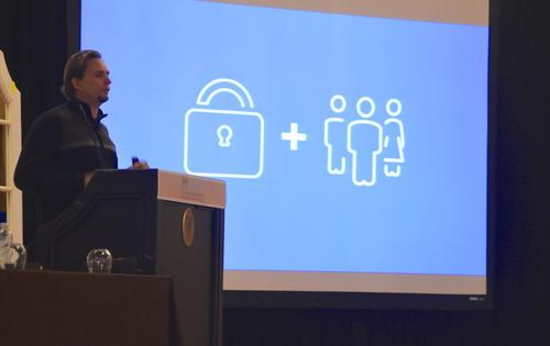 Facebook chief security officer Joe Sullivan, pictured Feb. 18, 2015, at the M3AAWG conference in San Francisco.