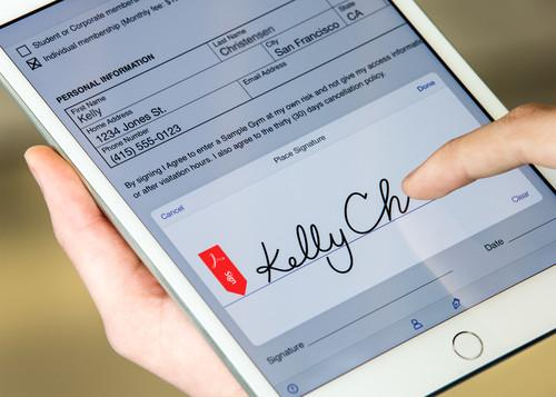 Adobe's new Fill and Sign mobile app