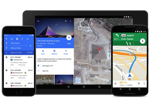 The latest version of Google Maps adopts Google's Material Design, which actually looks pretty good on an iOS device once you get used to Google's style.