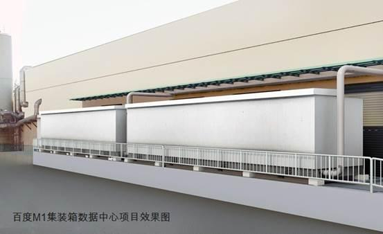Schneider Electric-built Baidu M1 datacentre, with two existing modules in place.