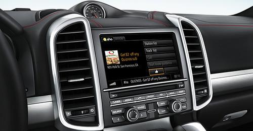 Aha Radio's location-based ads give users the option to redeem an offer by tapping on a Thumbs Up button on their in-dash infotainment system.