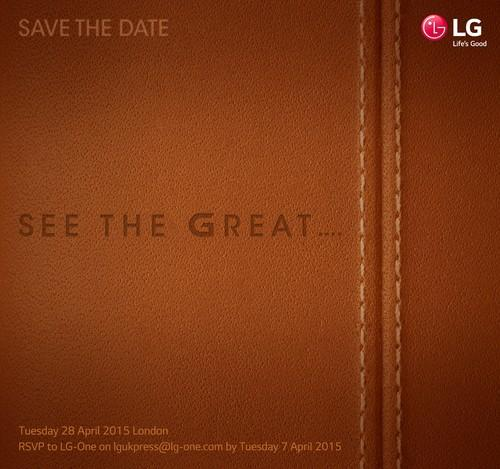 LG has scheduled an event for April 28.