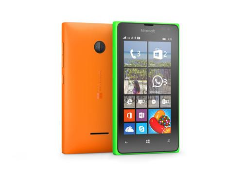 The Lumia 435 and Lumia 532 both have a 4-inch screen with a 800 by 480 pixel resolution.