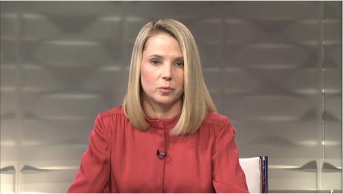 Marissa Mayer presents Yahoo's earnings results Tuesday