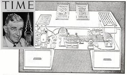 """DARPA's crime-fighting Memex program gets its name and inspiration from a hypothetical device described in """"As We May Think,"""" a 1945 article for The Atlantic Monthly."""