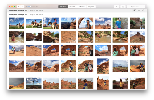 Photos interface follows Yosemite's path of clean, minimal design,