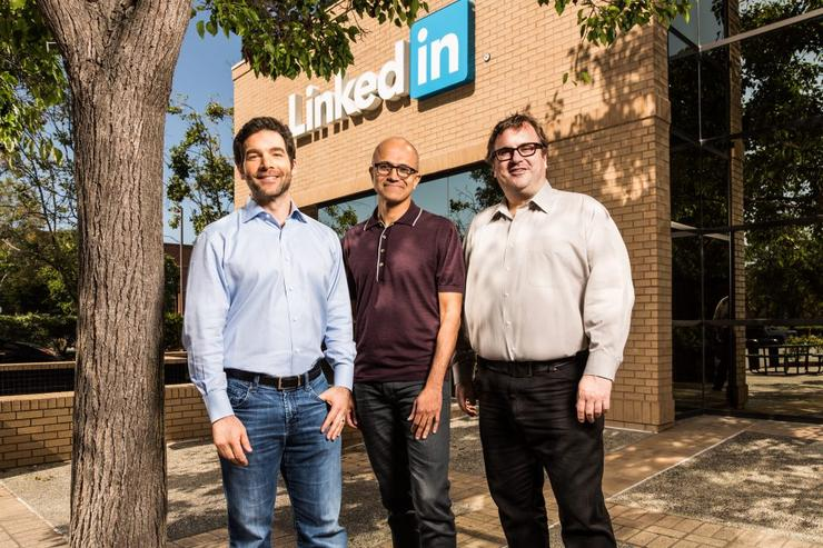 Jeff Weiner - CEO, LinkedIn; Satya Nadella - CEO, Microsoft and Reid Hoffman, chairman of the board, co-founder and controlling shareholder, LinkedIn