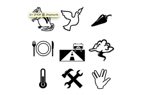 Some of the new emoji in Unicode version 7.0