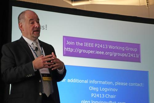 Oleg Logvinov, IEEE P2413 Working Group chair and director of special assignments at STMicroelectronics, spoke at an IEEE event in September.