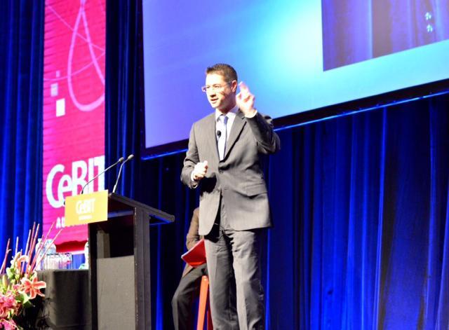 Shaun Rein speaking at CeBIT 2014