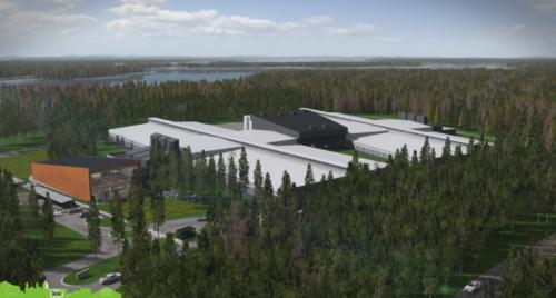 """Rendering of Facebook's """"rapid deployment data center"""" in Lulea, Sweden"""