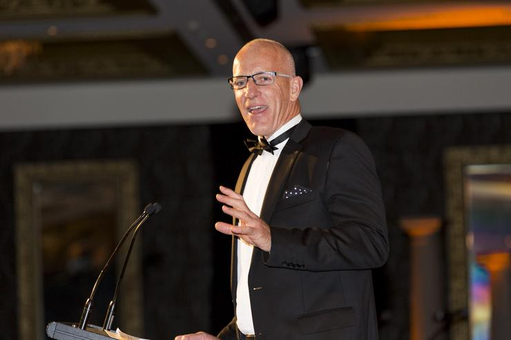 Mark Baker at the 2016 Reseller News ICT Industry Awards in Auckland