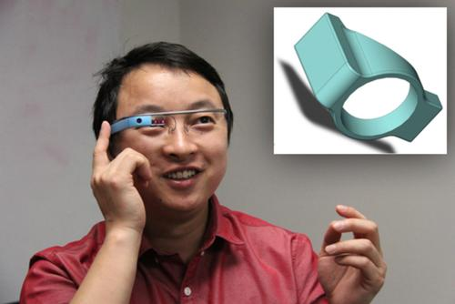 Jibo He and colleagues of Wichita State University in Kansas have developed an optical lens that dramatically expands the field of view for the camera on Glass. The attachment, called Google Lens, can boost the camera view from 54.8 degrees horizontally and 42.5 degrees vertically to 109.8 degrees and 57.8 degrees, respectively.