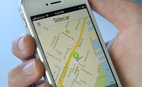Sidecar's mobile app.