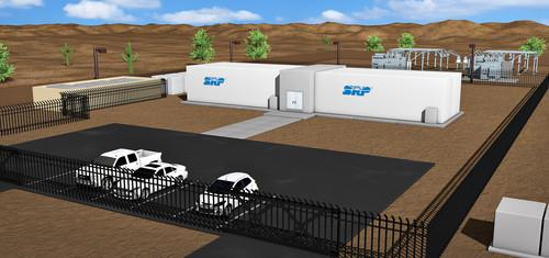Rendering of SRP's DataStation, a home for data centers on its grid