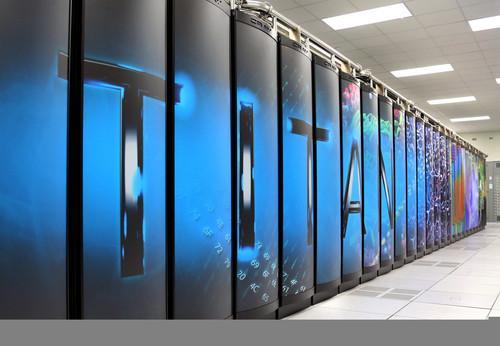 The 20-petaflop Titan supercomputer at the Oak Ridge National Laboratory