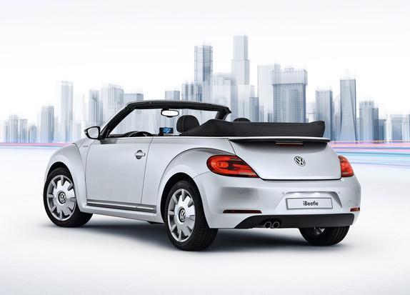 Volkswagen partners with Apple to create new iBeetle car. Credit: Volkswagen