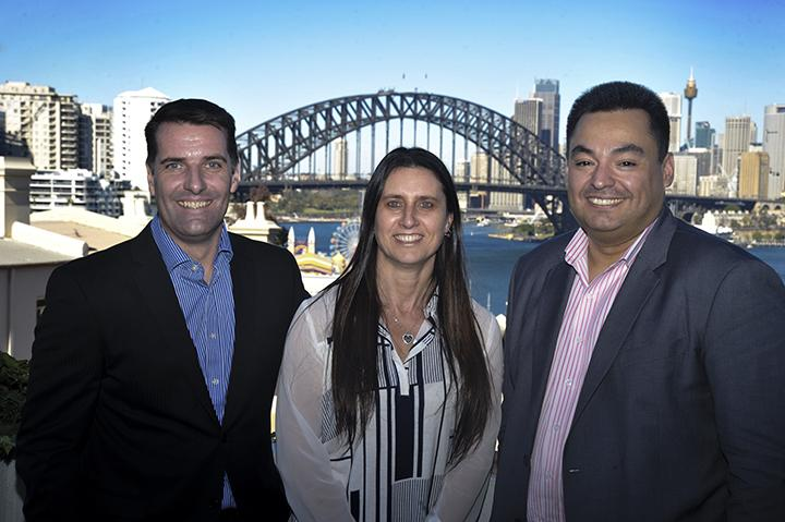 WhiteGold Solutions' Dominic and Sharon Whitehand, and Jonathan Odria, an hour after finalising the deal with Exclusive Networks Group.