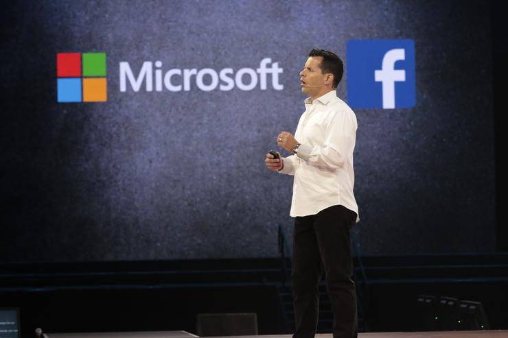 Tim Campos - CIO, Facebook on stage at Microsoft WPC in Toronto