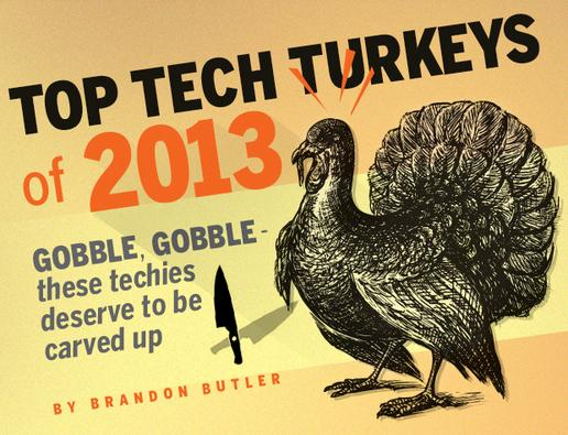 In Pictures: Top Tech Turkeys of 2013