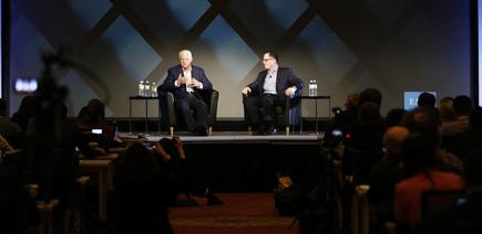 Joe Tucci - CEO and Chairman, EMC and Michael Dell - CEO, Dell on stage at EMC World 2016