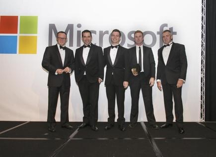 Team Atmospheric win the Cloud SMB award at the Microsoft NZ Partner Awards in 2015