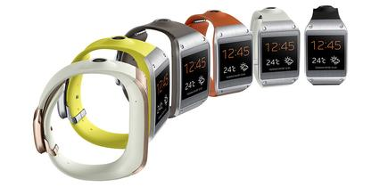 The Galaxy Gear comes in jet black, oatmeal beige, wild orange, rose gold, lime green and mocha gray.